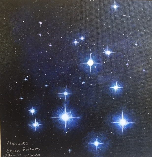 Seven Sisters - Pleiades By Leanne Leam